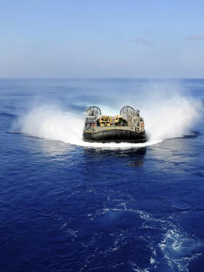 A Landing Craft Air Cushion in the Mediterranean Sea-Stocktrek Images-Photographic Print