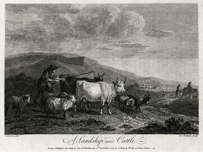 A Landskip and Cattle, 1774-James Roberts-Giclee Print