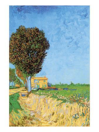 A Lane Near Arles-Vincent van Gogh-Art Print