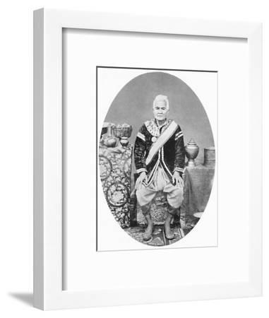 A Lao chief, 77 years old, In Siamese uniform, 1902-James McCarthy-Framed Photographic Print