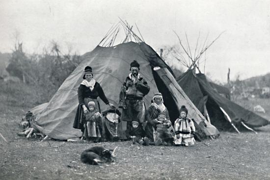 A Lapland encampment, 1912-Unknown-Photographic Print