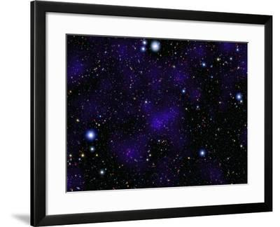 A Large Collection of Galaxies-Stocktrek Images-Framed Photographic Print