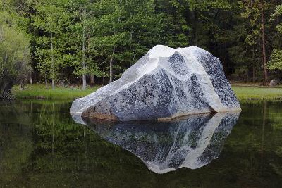 A Large Granite Boulder in Tenaya Creek, in Yosemite National Park-Marc Moritsch-Photographic Print