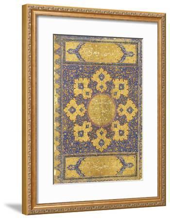 A Large Qur'An, Safavid Shiraz or Deccan, 16th Century (Manuscript on Buff Paper)--Framed Giclee Print
