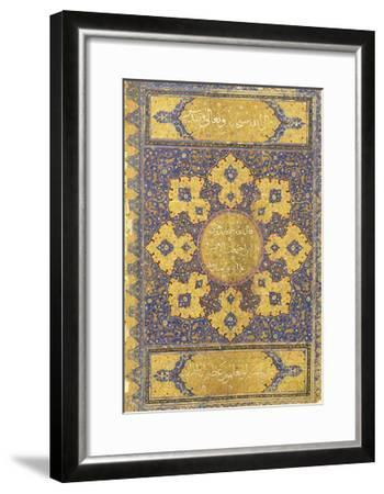 A Large Qur'An, Safavid Shiraz or Deccan, 16th Century (Manuscript on Buff Paper)--Framed Giclee Print