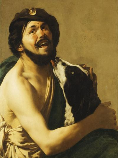 A Laughing Bravo with a Dog, 1628-Hendrick Terbrugghen-Giclee Print