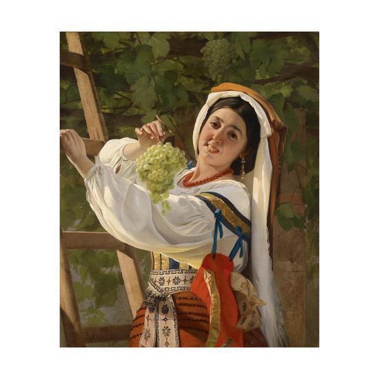 A Laughing Girl in South Italian Dress, 1857-Yevgraf Semyonovich Sorokin-Giclee Print