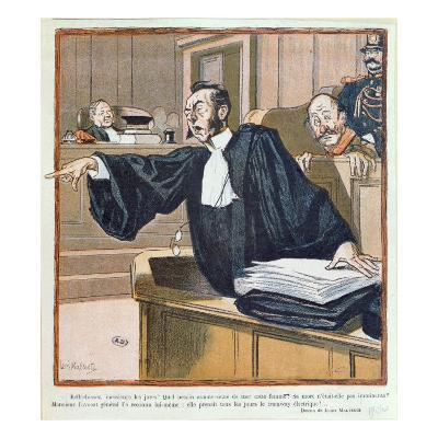 A Lawyer Addressing the Jury, 1900-Louis Malteste-Giclee Print