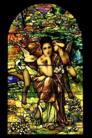 A Leaded and Plated Favrile Glass Window, C.1895--Giclee Print