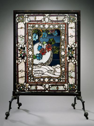 A Leaded Glass Fire Screen-Adler & Sullivan-Giclee Print