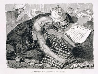 A Learned Man Absorbed in the Koran, 19th century-Karl Wilhelm Gentz-Giclee Print