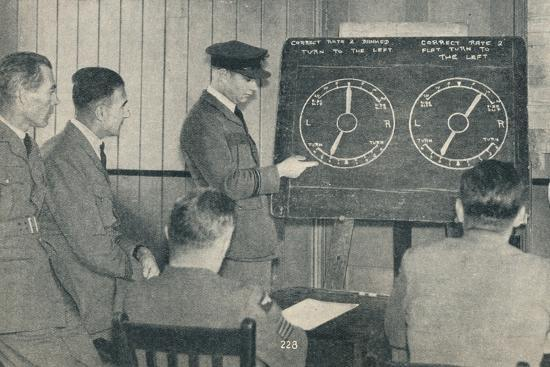 A lecture on instrument flying at the Central Flying School at Upavon, Wiltshire, c1936-Unknown-Photographic Print