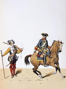 French Royal Troops, C1750 by A Lemercier