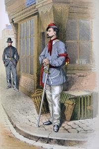 Parisian Civic Guard, 1887 by A Lemercier