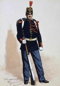 Republican Guard, 1871 by A Lemercier