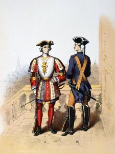 Royal Guard to the King, and Cavalier, 18th Century by A Lemercier