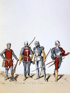 Troops of the Royal Guard, 12th-16th Century by A Lemercier