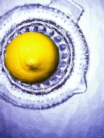 A Lemon Half on a Juicer-Wolfgang Usbeck-Photographic Print