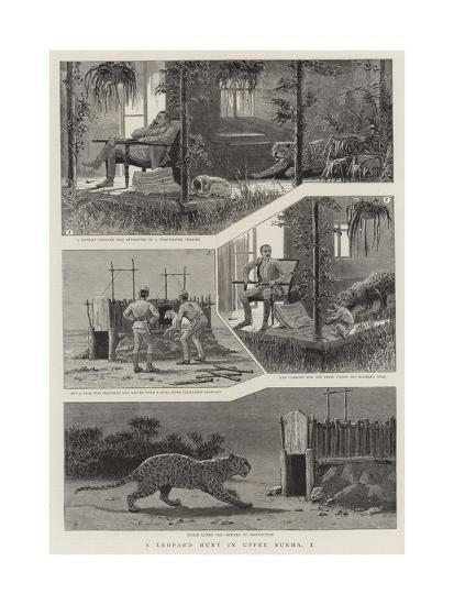 A Leopard Hunt in Upper Burma, I--Giclee Print