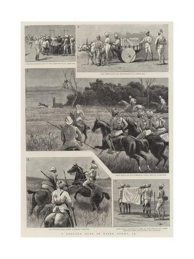 A Leopard Hunt in Upper Burma, II--Giclee Print