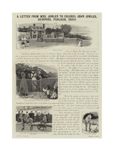 A Letter from Mrs Jowler to Colonel John Jowler, Skinpore, Punjaub, India-Edward Killingworth Johnson-Giclee Print
