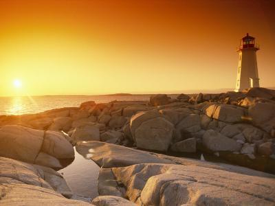 A Lighthouse at Sunset-Richard Nowitz-Photographic Print