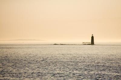 A Lighthouse Off the Shore of Cape Elizabeth, Maine-Jonathan Irish-Photographic Print
