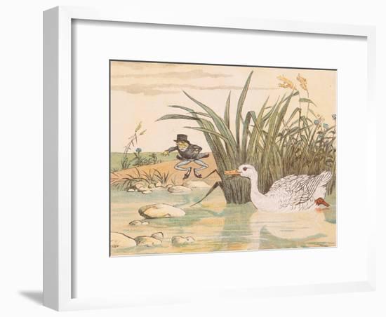 A Lily White Duck Gobbled Him Up-Randolph Caldecott-Framed Giclee Print
