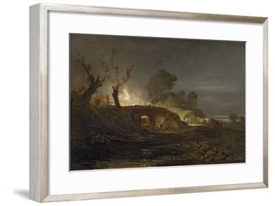 A Lime Kiln at Coalbrookdale, C.1797 (Oil on Panel)-J^ M^ W^ Turner-Framed Giclee Print