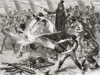 A Line Crossing Ceremony Aboard the Simon Bolivar--Giclee Print