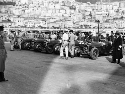 A Line of Alfa Romeos at the Monaco Grand Prix, 1934--Photographic Print