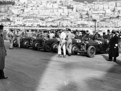 A Line of Alfa Romeos at the Monaco Grand Prix, 1934