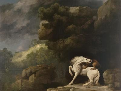 A Lion Attacking a Horse, 1770-George Stubbs-Giclee Print