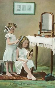 A Little Ladies' Maid, Girls at Toilette