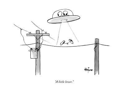 """""""A little lower."""" - New Yorker Cartoon--Premium Giclee Print"""