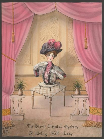 A Living Half Lady--Art Print