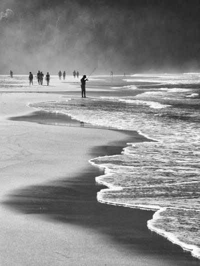 A Local Fisherman Fishing on Itamambuca Beach, Ubatuba, Brazil-Alex Saberi-Photographic Print