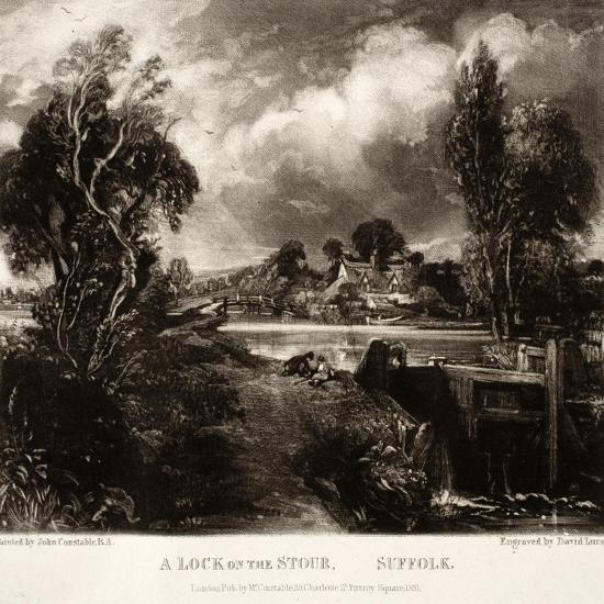 A Lock on the Stour-John Constable-Giclee Print