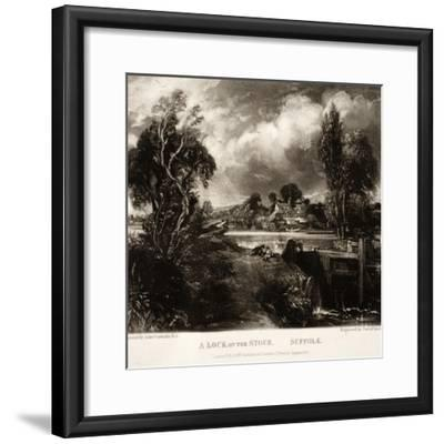A Lock on the Stour-John Constable-Framed Giclee Print