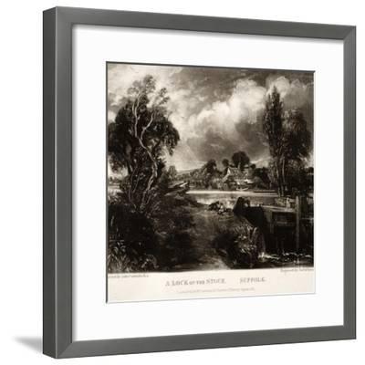 A Lock on the Stour-John Constable-Framed Giclee Print