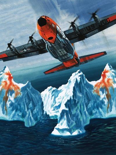 A Lockheed Hercules Patrolling Icebergs for the Coast Guard-Wilf Hardy-Giclee Print
