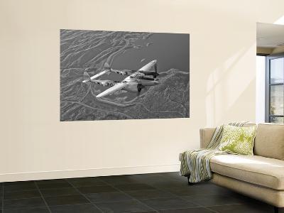 A Lockheed P-38 Lightning Fighter Aircraft in Flight-Stocktrek Images-Giant Art Print