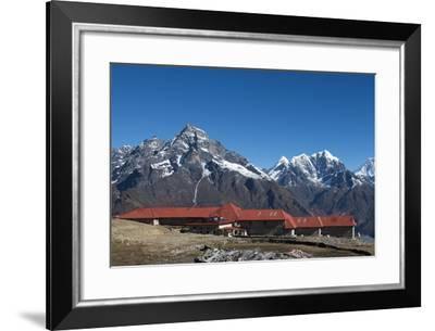 A lodge at Kongde in Everest region, Khumbu Region, Himalayas, Nepal, Asia-Alex Treadway-Framed Photographic Print