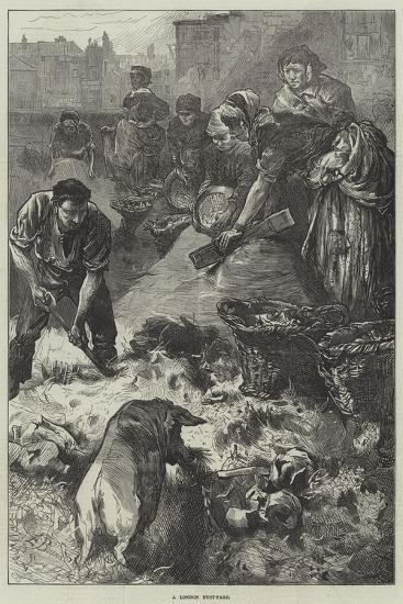 A London Dust-Yard-Edwin Buckman-Giclee Print