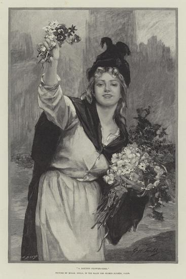 A London Flower-Girl--Giclee Print