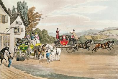 A London Mail and Stage Coach-Robert The Elder Havell-Giclee Print