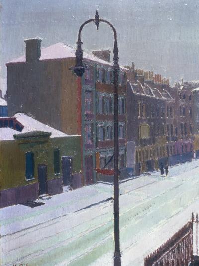 A London Street in Snow, 1917-Harold Gilman-Giclee Print