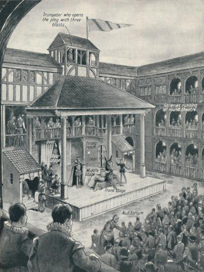 'A London Theatre in Shakespeare's Time', c1934-Unknown-Giclee Print