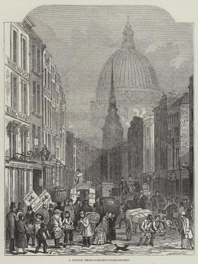 A London Thoroughfare, Fleet-Street-John Wykeham Archer-Giclee Print