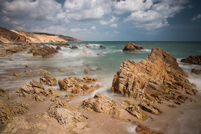 A Long Exposure During the Day by the Rock Formations Near Pedra Furada, Jericoacoara, Brazil-Alex Saberi-Photographic Print